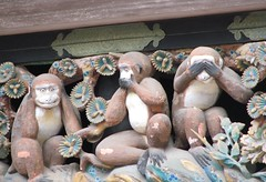 Hear no evil, speak no evil, see no evil at Toshigi Shrine in Nikko, Japan