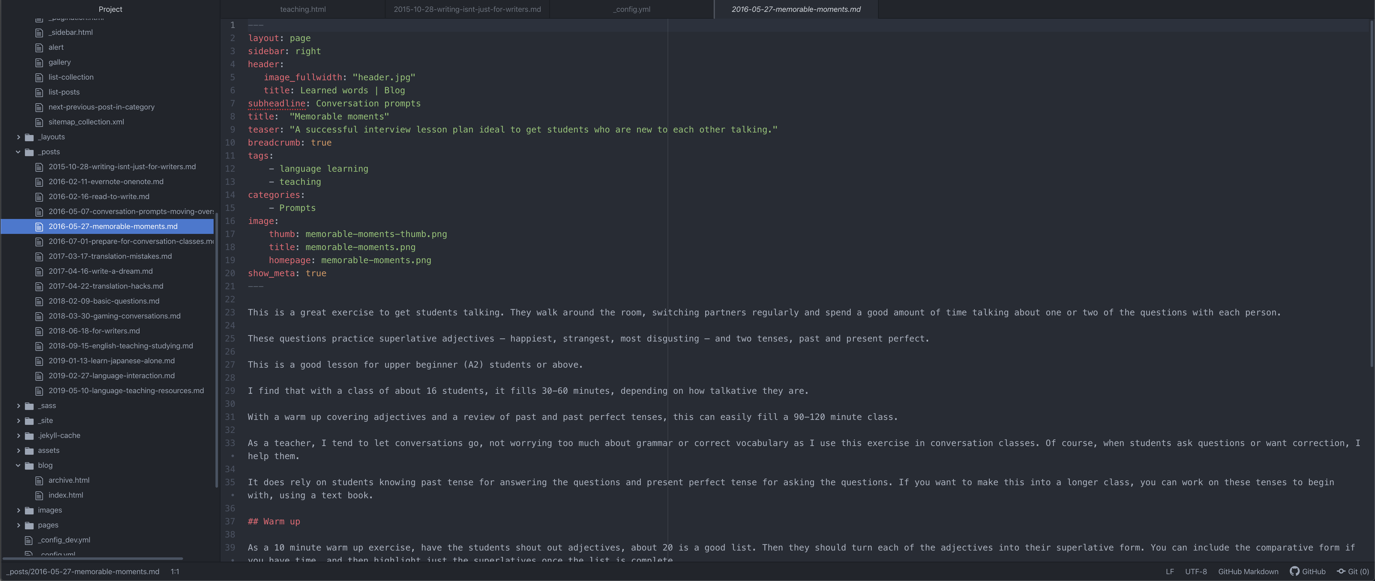Atom is a fabulous editor for writing in Markdown for a Jekyll website