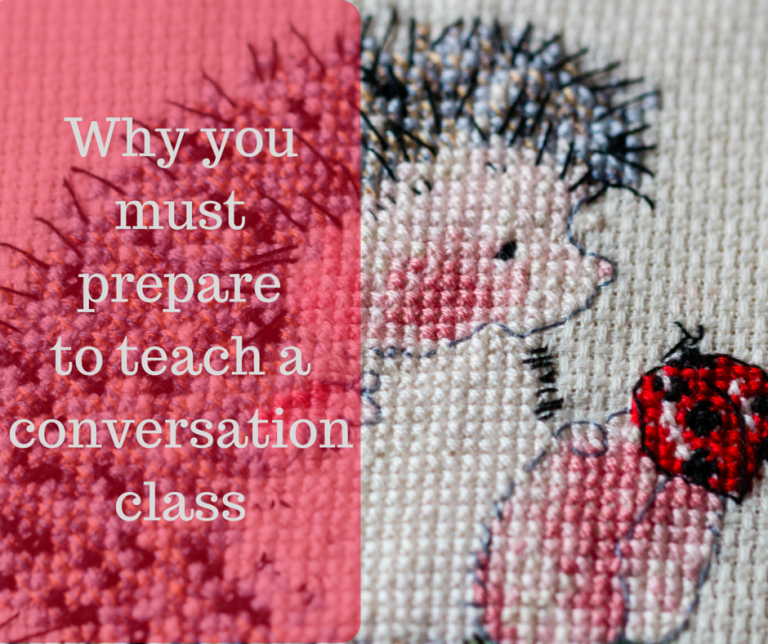 Prepare for conversation classes